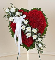 Red and White Solid Heart from Amy's Flowers and Gifts in Dallas, GA