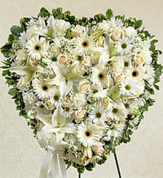 Solid White Heart from Amy's Flowers and Gifts in Dallas, GA