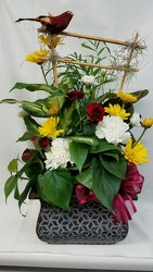 Dish Garden with Fresh Flowers Added DG005999 from Amy's Flowers and Gifts in Dallas, GA