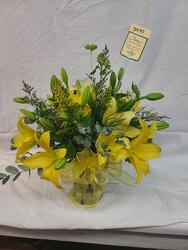 Sparkling Yellow Lilies from Amy's Flowers and Gifts in Dallas, GA