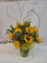 Sunny Sunflowers from Amy's Flowers and Gifts in Dallas, GA